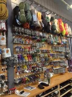 Climbing Gear at The Mountain Shop in Yosemite National Park.