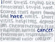 I hate cancer!!