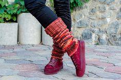 Knit leg warmers Legwarmers for women Wool leg warmers Ankle