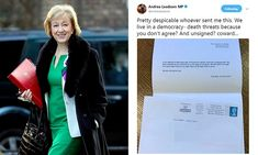 ICYMI: Andrea Leadsom gets death threat from 'real 48 per cent'