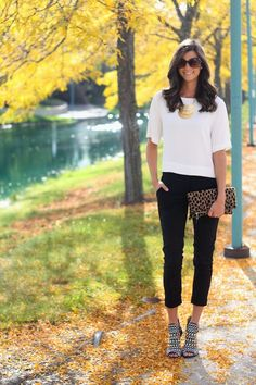 Outfit Post: Black and White and Leopard