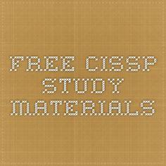 Free CISSP Study Materials
