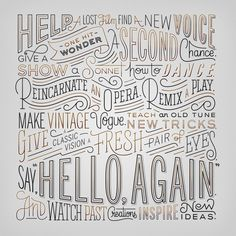 """Hello, Again"" Manifesto Digitized by Erik Marinovich created for the new Lincoln Motor Company"