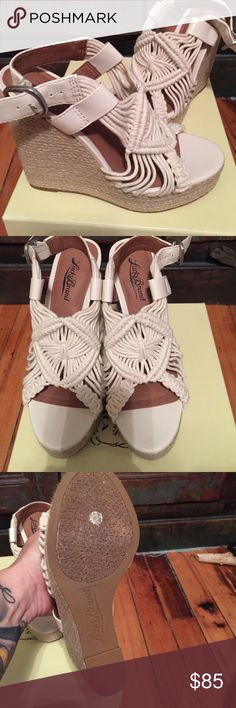 Lucky Brand wedges , new in box Sz 6 Never worn, new in box , gorgeous wedges , boho style .. These are just precious !! Lucky Brand Shoes Wedges
