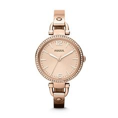 Women's Wrist Watches - Fossil Womens ES3226 Georgia Glitz Three Hand Stainless Steel Watch  Rose GoldTone ** Click image to review more details. (This is an Amazon affiliate link)