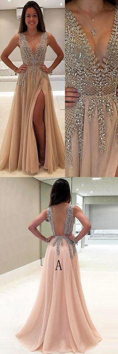 chic champagne prom party dresses ,fashion formal gowns, chic dreamy dress for fashion prom party.