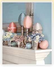 Belle & Beau Antiquarian: Easter Mantle Ideas