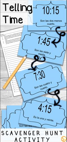 Looking for a fun game to practice telling time and la hora with your Spanish classes? This activity will get your students up and moving, while providing instant feedback! It's so fun, you have to try it! Click to see how!