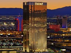 The gold-plated Trump International offers condo-style suites one block from the Strip. Las Vegas Hotels, Trump Hotel Las Vegas, Las Vegas Strip, Hilton Hotels, Hotels And Resorts, Cuba, Vegas Skyline, Trump International Hotel, Trump Tower