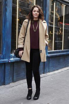 Hannah Thomas, London;  Vintage Jacket | Pants: Topshop | Tops: Topshop | Shoes: Office | Bag: Zara | Accessories: Zara