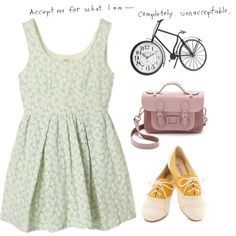 A fashion look from June 2014 featuring yellow shoes, leather handbags and Pier 1 Imports. Browse and shop related looks.