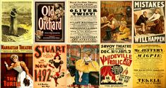 180 Beautifully Illustrated 'Print Ready' Vintage Theatre Posters - Print & Sell - FREE SHIPPING!
