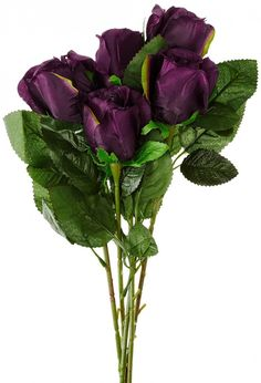 Synthetic Single Rose(dark purple)