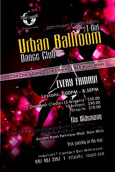 REMINDER.. T0 ALL URBAN BALLROOM DANCE CLUB MEMBERS......SOCIAL,  FITNESS,  FUN,  DANCING...Lessons 8.00pm..URBAN/ LATIN PARTY STARTS AT 9.30PM TILL
