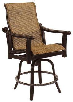 High Back Sling Swivel Counter Stool At Michael Alan Furniture