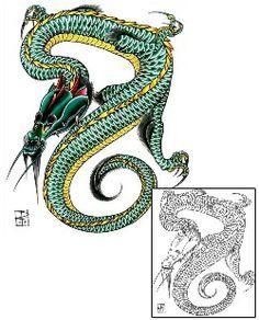 Dragon Tattoos DFF-00987 Created by Damien Friesz