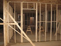 Basement Wall Framing bathroom framing complete. angle wall. (kb basement from google