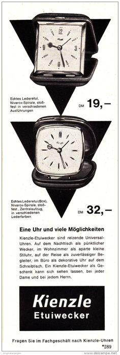 Original-Werbung/Anzeige 1960 - KIENZLE ETUIWECKER - ca. 65 x 200 mm