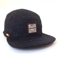633fec3cc76 5panel zwarte bal GLB kamp handgemaakte Hat Baseball Cap Strapback