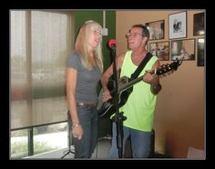 First time we sang together in public - at Lisa's Bistro