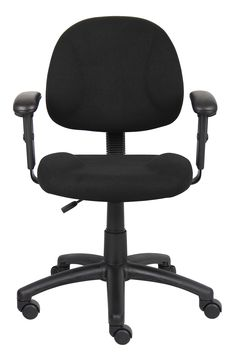 Free 2-day shipping. Buy Boss Office & Home Beyond Basics Adjustable Office Task Chair with Adjustable Arms, Multiple Colors at Walmart.com Reduce Stress, How To Relieve Stress, Perfect Posture, Cool Chairs, Simple House, Boss Black, Home Office, Upholstery, Arms