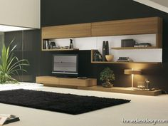 Modern wall unit - like the look but not enough storage.