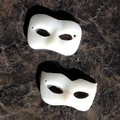 Natalia used Plastimake to create a pair of miniature masks. Each mask is only wide, they're destined to be painted and used for dressing up dolls. Plastic Items, Dress Up Dolls, Biodegradable Products, Sculpting, Masks, Sculptures, Halloween Face Makeup, Dressing, Miniatures