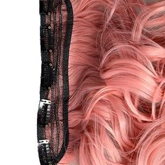 Vani® New One Piece 60cm Curly Synthetic Thick Hair Extension Clip-on Hairpieces for women (Smokey Pink) - Brought to you by Avarsha.com