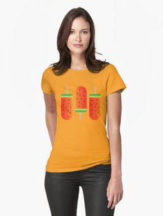 Watermelon Ice Lollies Womens T-Shirt Front