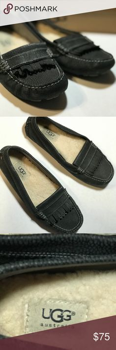 UGG Black Moccasins/Loafer Black UGG moccasins. I wore them maybe 10 times. Comfy just not my style any longer. Size 8 womens. UGG Shoes Flats & Loafers