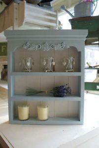 old painted pine book case shelves shabby chic pine shelves and rh pinterest com  shabby chic wooden spice rack