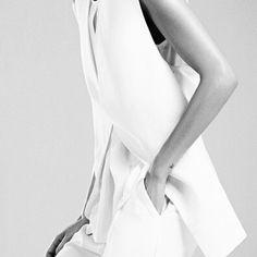Longline Waistcoat - minimal white tailoring, minimalist style // Alexandre Herchcovitch SS14
