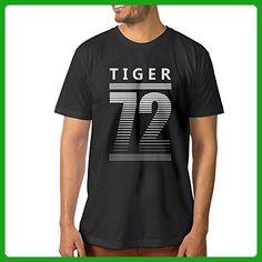 Men's Tiger 72 Football Basketball Fans Cool T-Shirt - Animal shirts (*Amazon Partner-Link)