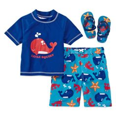 Wippette Little Squirt 3-pc. Swim Set – Boys 2t-4t  found at @JCPenney