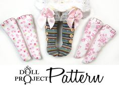 NEW Doll Socks Patterns PDF Tutorial : How to sew socks for Lati Yellow Amelia Thimble Blythe AG American Girl Puki Patsy Dolls on Etsy, $10.00