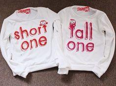 best friend matching shirts | sweater best friend matching shirts tall one short one shirt t-shirt ...