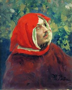 dantereader:  Portrait of Dante, Ilya Repin.