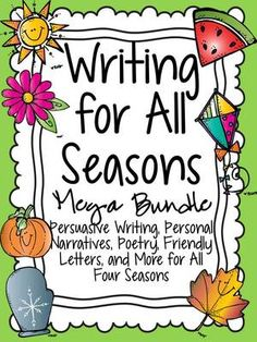 Writing for All Seasons Giveaway! - Perfect addition to your 3rd-5th Writing Workshop!.  A GIVEAWAY promotion for Writing for All Seasons Mega Bundle from School Rules on TeachersNotebook.com (ends on 1-11-2015)