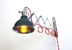 Industrial Scissor Articulating Wall Lamp Light With door LongMadeCo