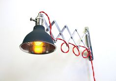 Industrial Scissor Articulating Wall Lamp Light  by LongMadeCo, $145.00