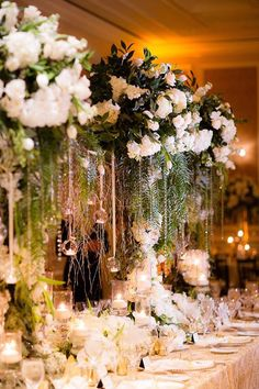 Glitz and glam wedding centerpiece ideas