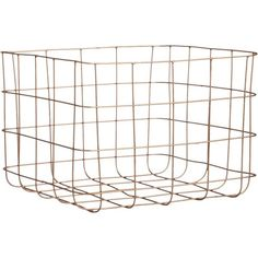 CB2 Copper Wire Storage Basket (29 AUD) ❤ liked on Polyvore featuring home, home decor, small item storage, baskets, fillers, interior, decor, book baskets, copper wire basket and tower
