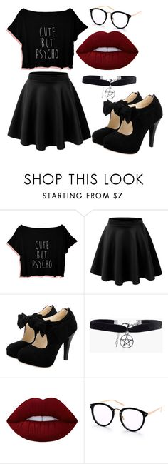 """outfit"" by hjeanb on Polyvore featuring Boohoo and Lime Crime"
