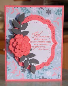 Inspirational Greeting Card, Stampin Up SECRET GARDEN.via Etsy.