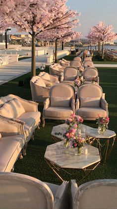 wedding lounge with pink peach blossom, spring wedding ideas Wedding Lounge, Wedding Reception, Wedding Shoes, Wedding Table, Reception Ideas, Wedding Seating, Wedding Dress, Wedding Goals, Wedding Planning