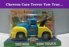 Chevron Cars Trevor Tow Truck with Working Tow Bar. Professor Trevor Tow Truck teaches to the beat of a different drummer. He makes learning fun in his class by teaching his students to think of an engine as a School Band. When a band or an engine is in tune, it's sweet music to the ears! And Trevor is proud to teach his students all he knows about staying in tune. Safety tested and recommended for children ages 3 and over.