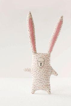 Sleepy Bunny Stuffed Toy - Sleepy Rabbit Upcycled Softie - Animal Plushie for Baby by WoodlandTale on Etsy https://www.etsy.com/listing/115095400/sleepy-bunny-stuffed-toy-sleepy-rabbit