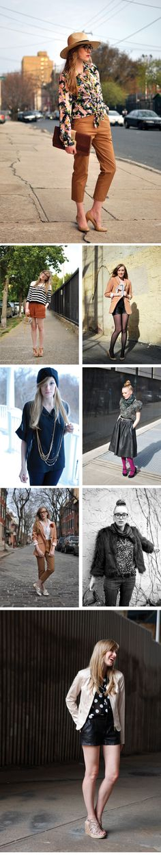 I love this girls style, but gosh she must have tons of clothes