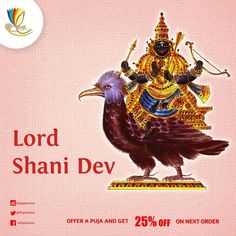#Shani #dev is embodied in the #planet #Saturn and is the #Lord of Saturday.
