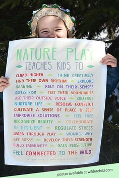 Ideas of activities to do outdoor with the kiddos. Poster showing the benefits . - day care - Ideas of activities to do outdoor with the kiddos. Poster showing the benefits of playing outside! Forest School Activities, Nature Activities, Activities To Do, Indoor Activities, Summer Activities, Outdoor Learning Spaces, Outdoor Education, Play Based Learning, Early Learning